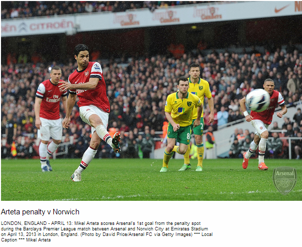 Arteta penalty v Norwich - Flickr - Photo Sharing!