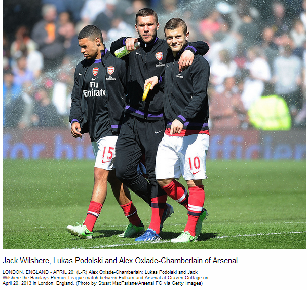 Jack Wilshere, Lukas Podolski and Alex Oxlade-Chamberlain of Arsenal - Flickr - Photo Sharing!