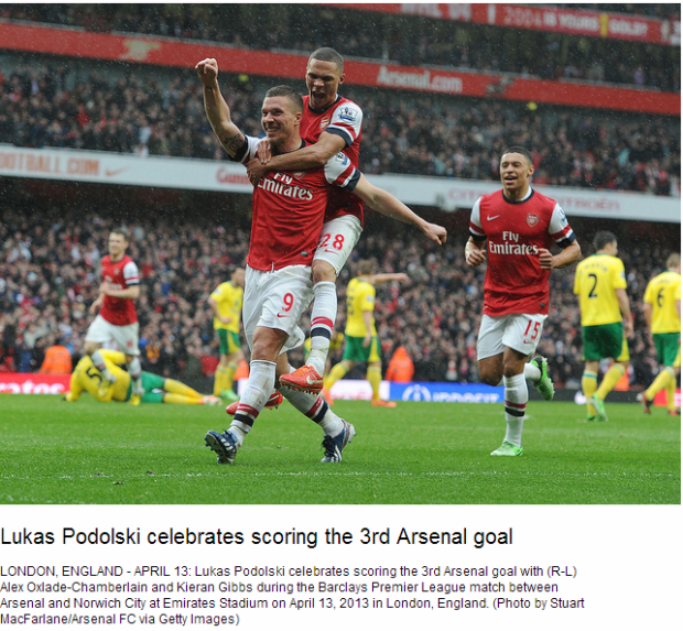 Lukas Podolski celebrates scoring the 3rd Arsenal goal - Flickr - Photo Sharing!