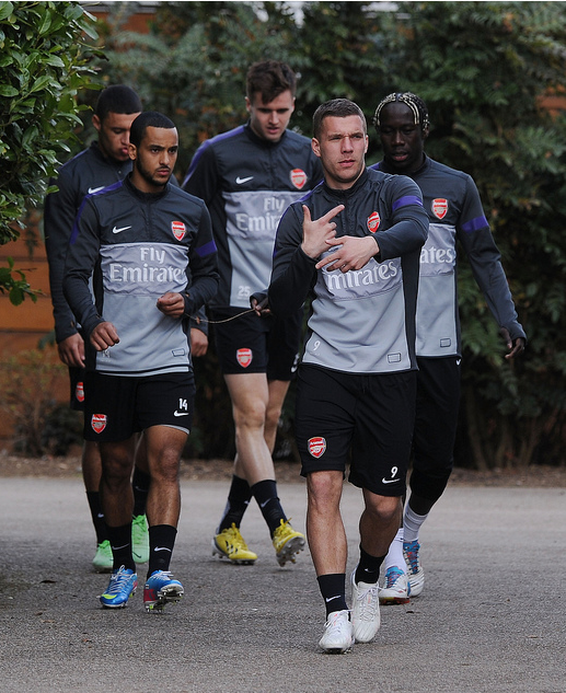 Lukas Podolski of Arsenal before training - Flickr - Photo Sharing!