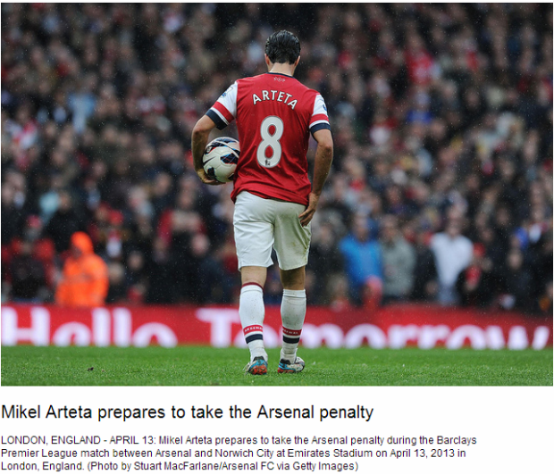 Mikel Arteta prepares to take the Arsenal penalty - Flickr - Photo Sharing!