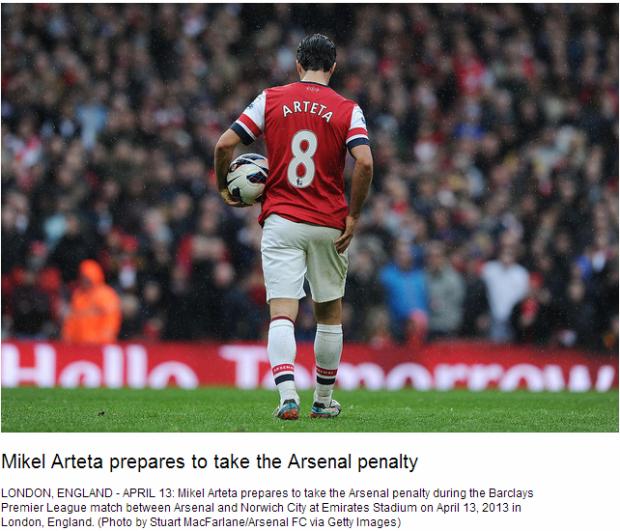 Mikel Arteta prepares to take the Arsenal penalty - Flickr - Photo Sharing!