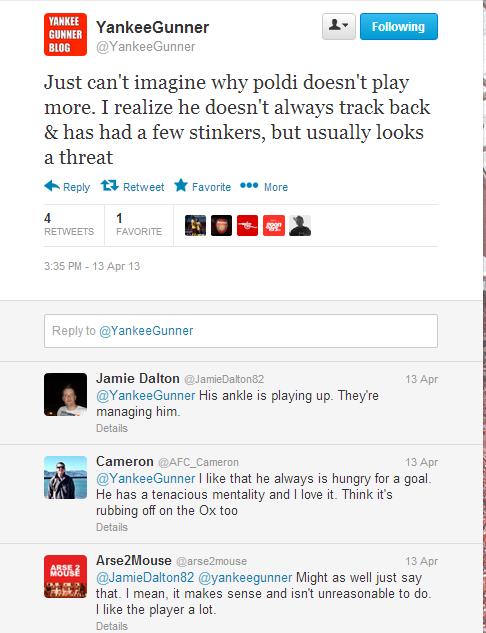 Twitter - YankeeGunner- Just can't imagine why poldi ...