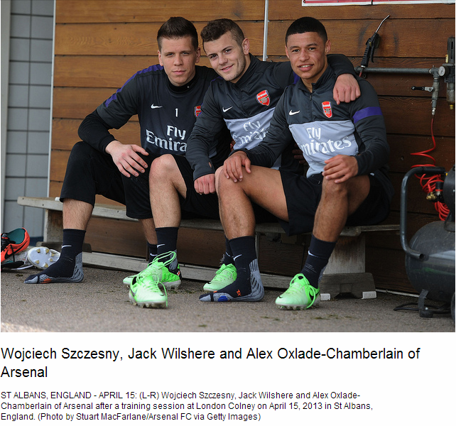 Wojciech Szczesny, Jack Wilshere and Alex Oxlade-Chamberlain of Arsenal - Flickr - Photo Sharing!