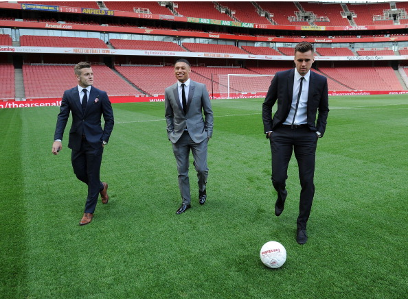Jack Wilshere Alex Oxlade Chamberlain And And Carl… News Photo - Getty Images - 168307044