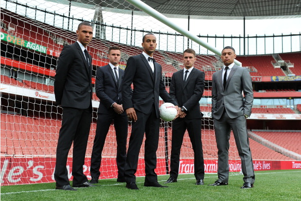 Kieran Gibbs Carl Jenkinson Theo Walcott Aaron Ramsey And… News Photo - Getty Images - 168307035