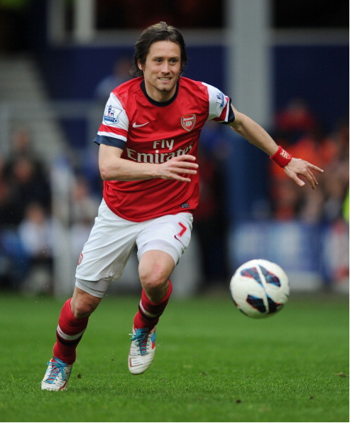 Tomas Rosicky Of Arsenal During The Barclays Premier League… News Photo - Getty Images - 168029980