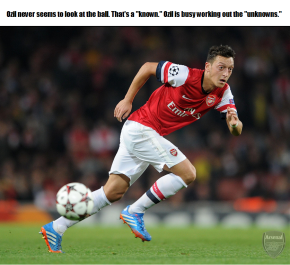 Ozil and the unknown