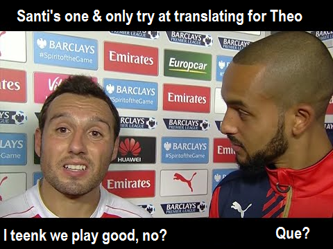Santi translates for Theo